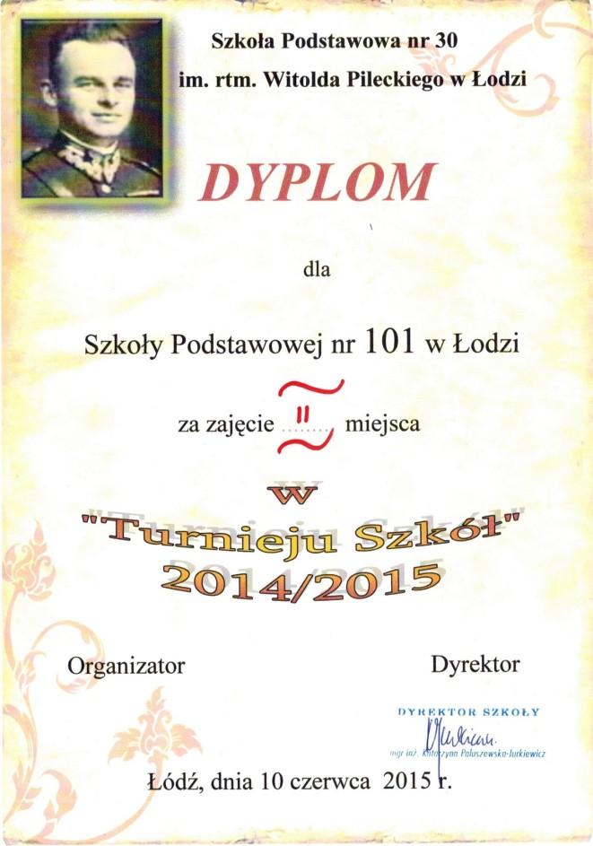 """""""Turniej Szkół"""" 2014/2015"""