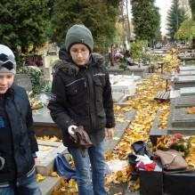Wizyta na cmentarzu