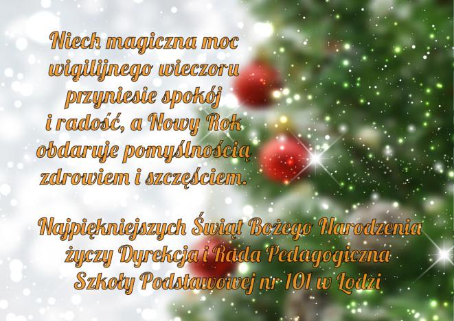 Życzenia świąteczne – Boże Narodzenie 2017