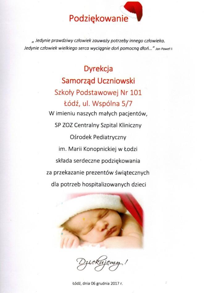 Prezenty świąteczne dla chorych dzieci