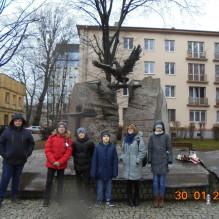 Lekcja pamięci przy Pomniku Ofiar Komunizmu